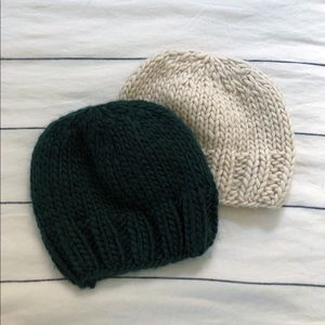 Anthropologie 100% wool knit hats